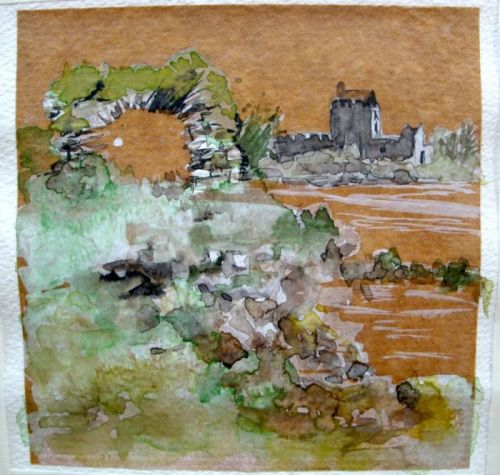 Chateau sur papier craft (Bettina)